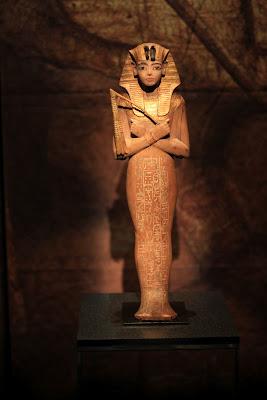 Unguent Vase (left) and Shabti (right) – Items in Tutankhamun's Tomb