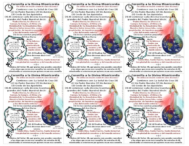 imagen con la coronilla a la divina misericordia