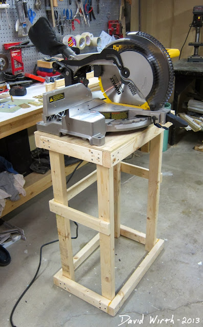 basic miter saw stand frame, framework, plywood