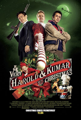 Watch A Very Harold & Kumar 3D Christmas 2011 BRRip Hollywood Movie Online | A Very Harold & Kumar 3D Christmas 2011 Hollywood Movie Poster
