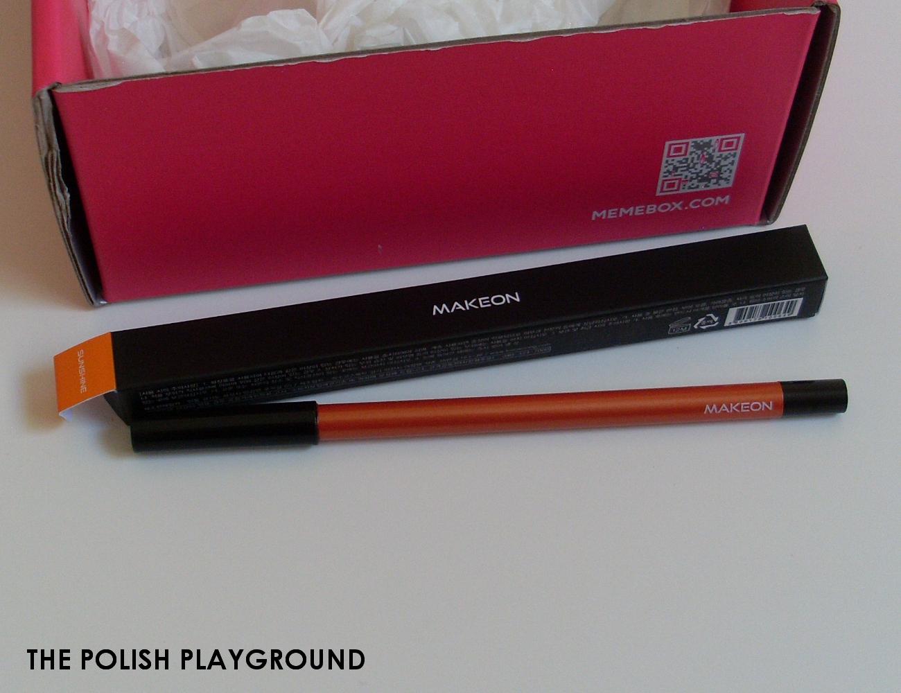Memebox Colorbox #2 Orange Unboxing - Tosowoong Bronze Spectrum Waterproof Gel Pencil Liner #11 Sunshine