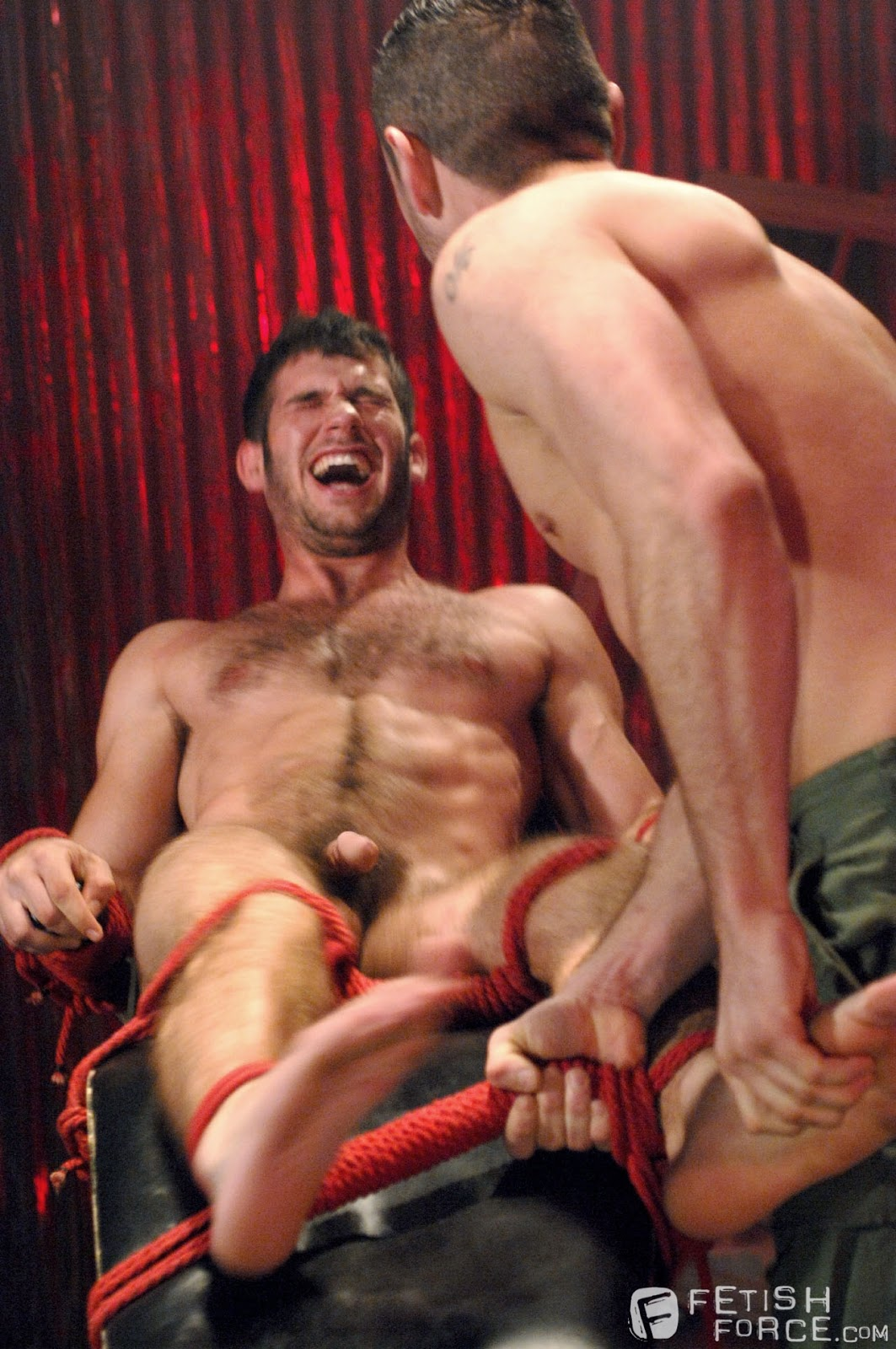 Tickle Fetish Action With A Bound Guy