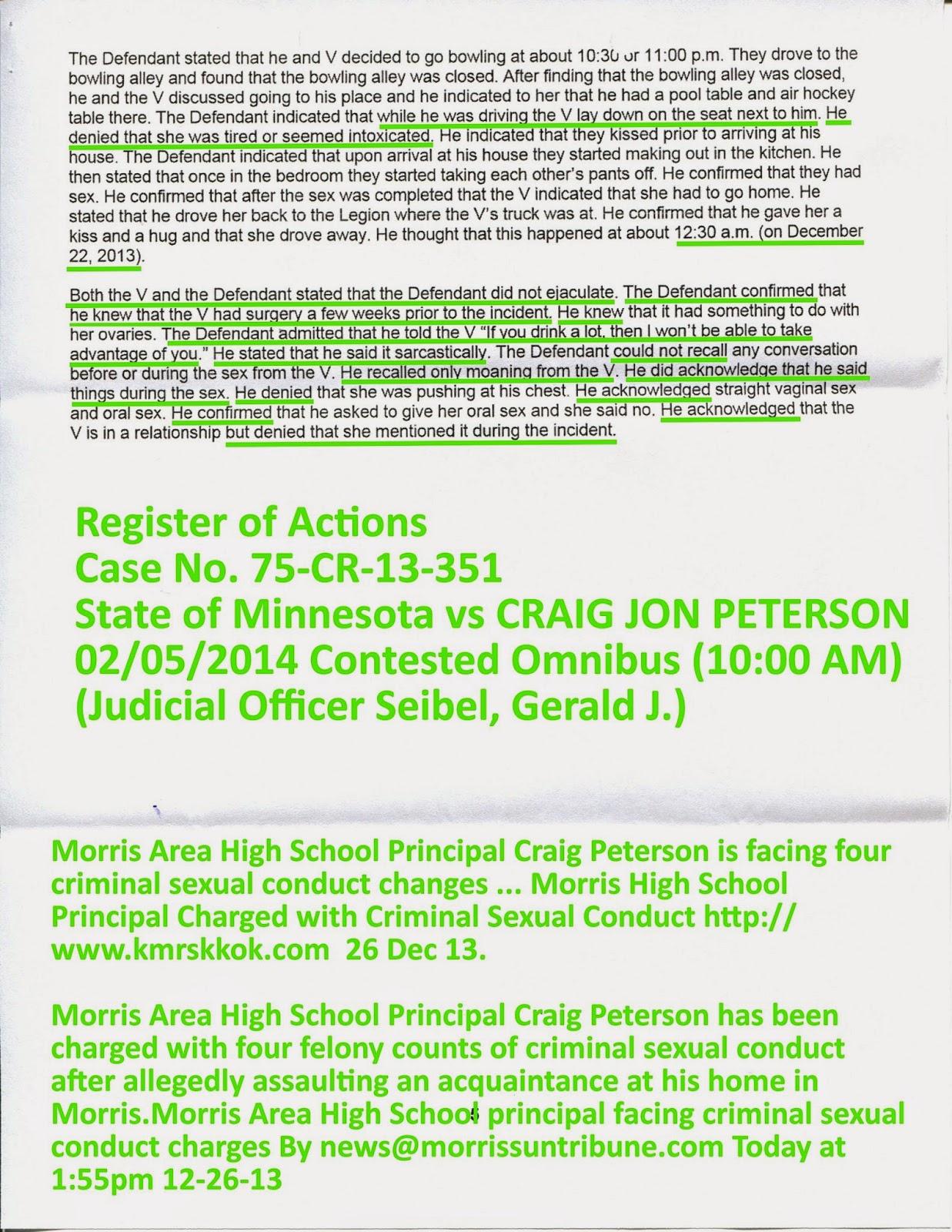 lion news will morris area high school principal craig
