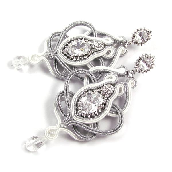 Sutasz ślubny z kryształami Swarovski