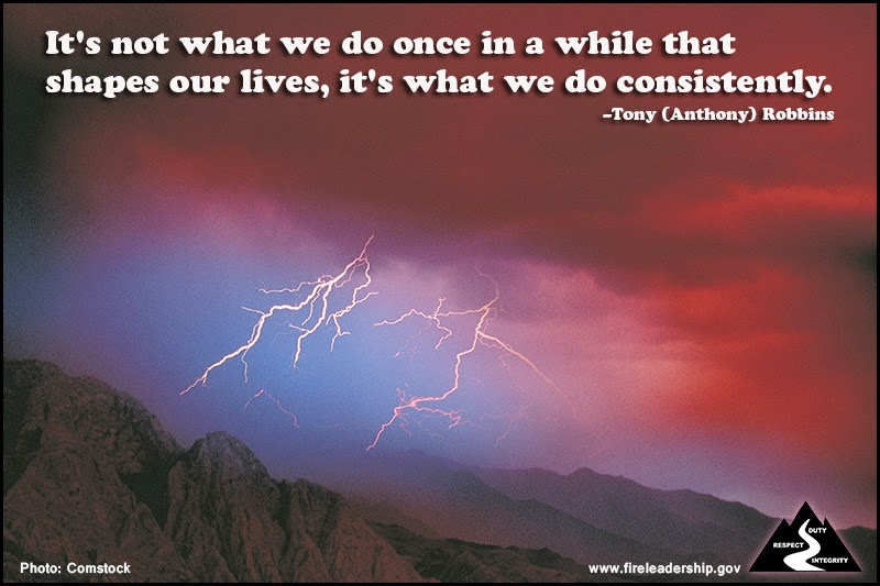 """It's not what we do once in a while that shapes our lives, it's what we do consistently."" ~ Tony (Anthony) Robbins"