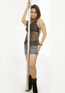 Aashi Thakur in Spicy Denim Shorts and Transparent Black Backless Shorts Lovely Cute Beauty