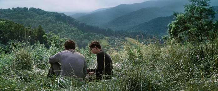 Conversa entre Katniss e Gale