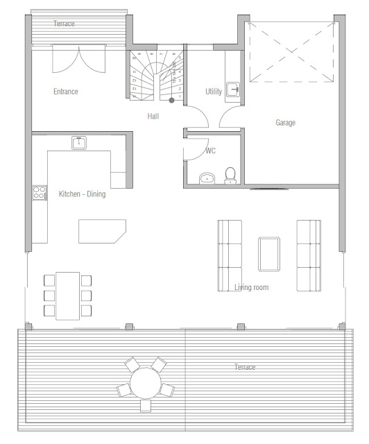 contemporary house plans modern house ch173