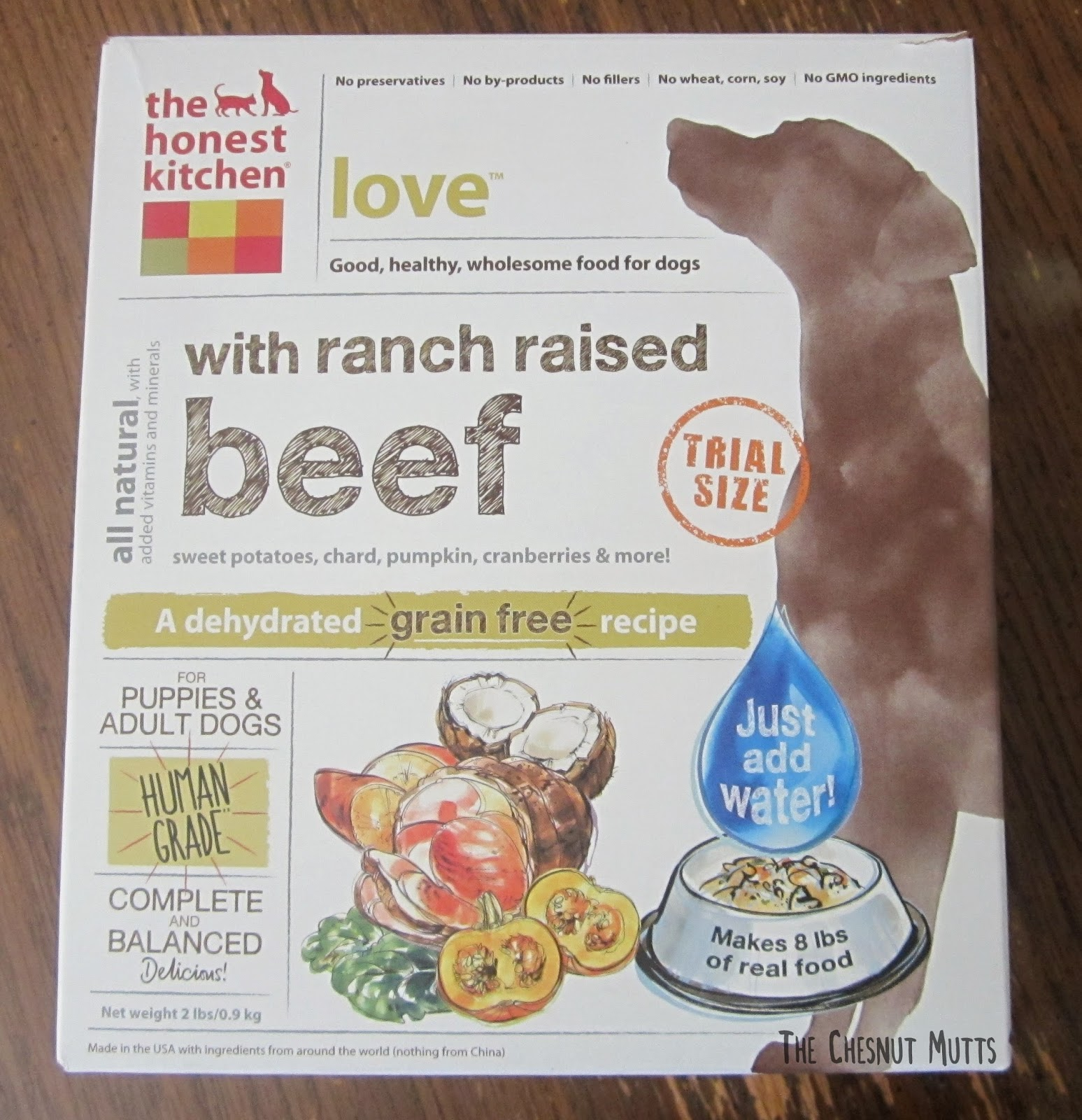 The Honest Kitchen Love With Ranch Raised Beef