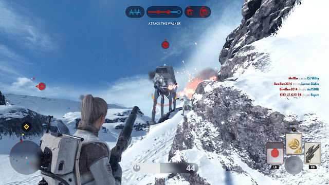 Star Wars: Battlefront walker assault Hoth AT-AT