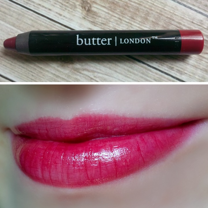 Butter London lip swatch swatches Ruby Murray Blood Brilliant Lip Crayon