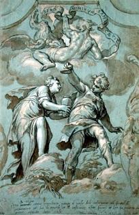Epimetheus & Pandora, Paolo Farinati, ~1600.