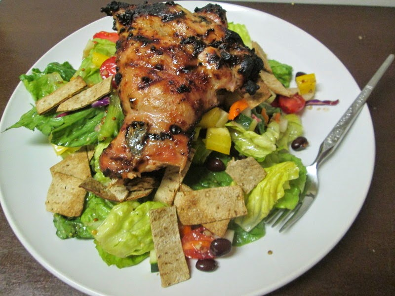 Southern Fattoush with grilled chicken