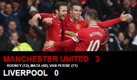 Video Cuplikan Gol Manchester United vs Liverpool 3-0