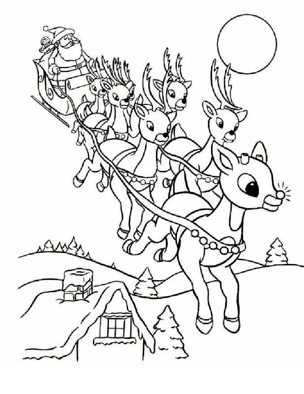 to everyone by presenting their free range of Rudolph Coloring Pages title=