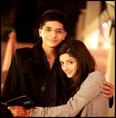 Mawra Hussain with brother Ins-e-Yazdan celerities Pictures