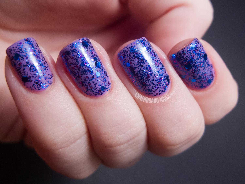 Girly Bits Swatch Spam | Chalkboard Nails | Nail Art Blog
