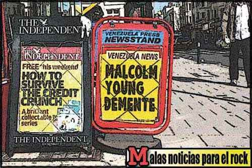 Newsstands tipo cómic - Malcolm Young de ACDC