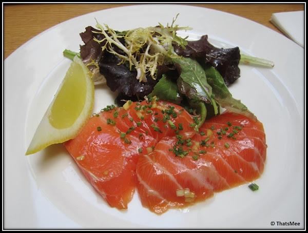 Restaurant JAJA antre du vin carte, rue sainte-croix de la Bretonnerie Paris 3ème, plat menu entrée gravelax Saumon