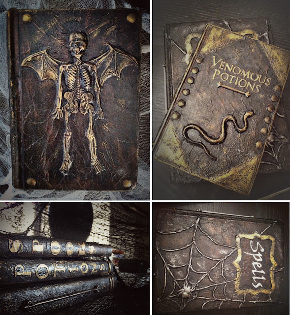 1000  images about Halloween altered book on Pinterest | Spell ...
