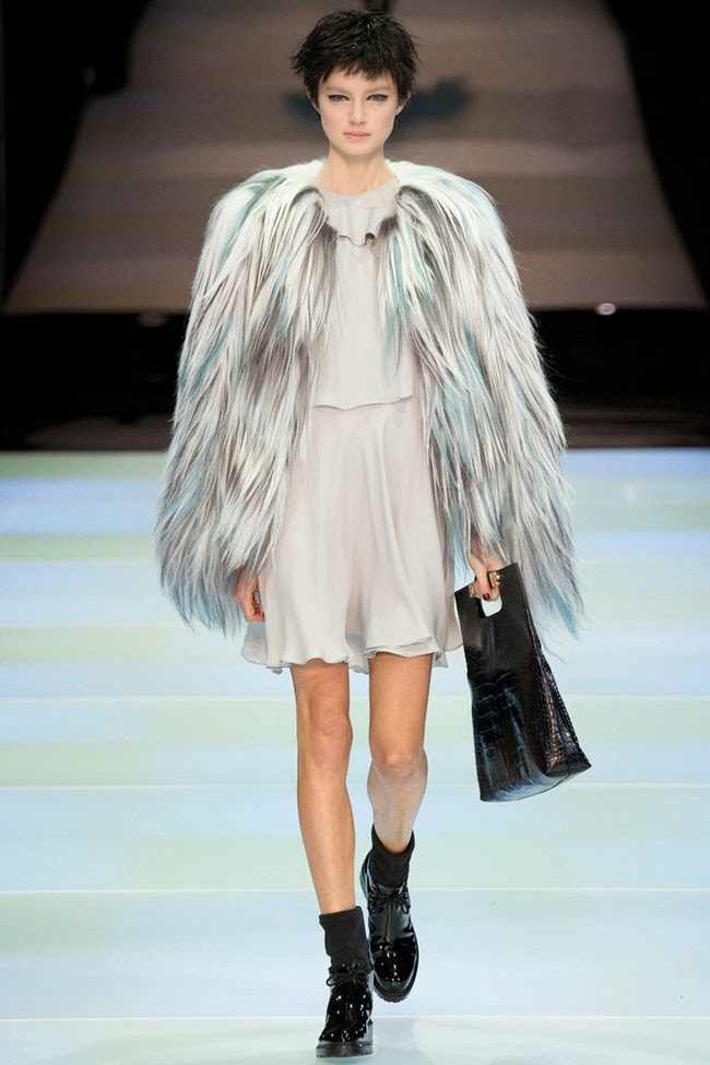 Emporio Armani 2014 AW Multi-color Fur Coat