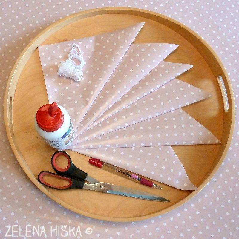 kako naredim papirnato zvezdo - materiali