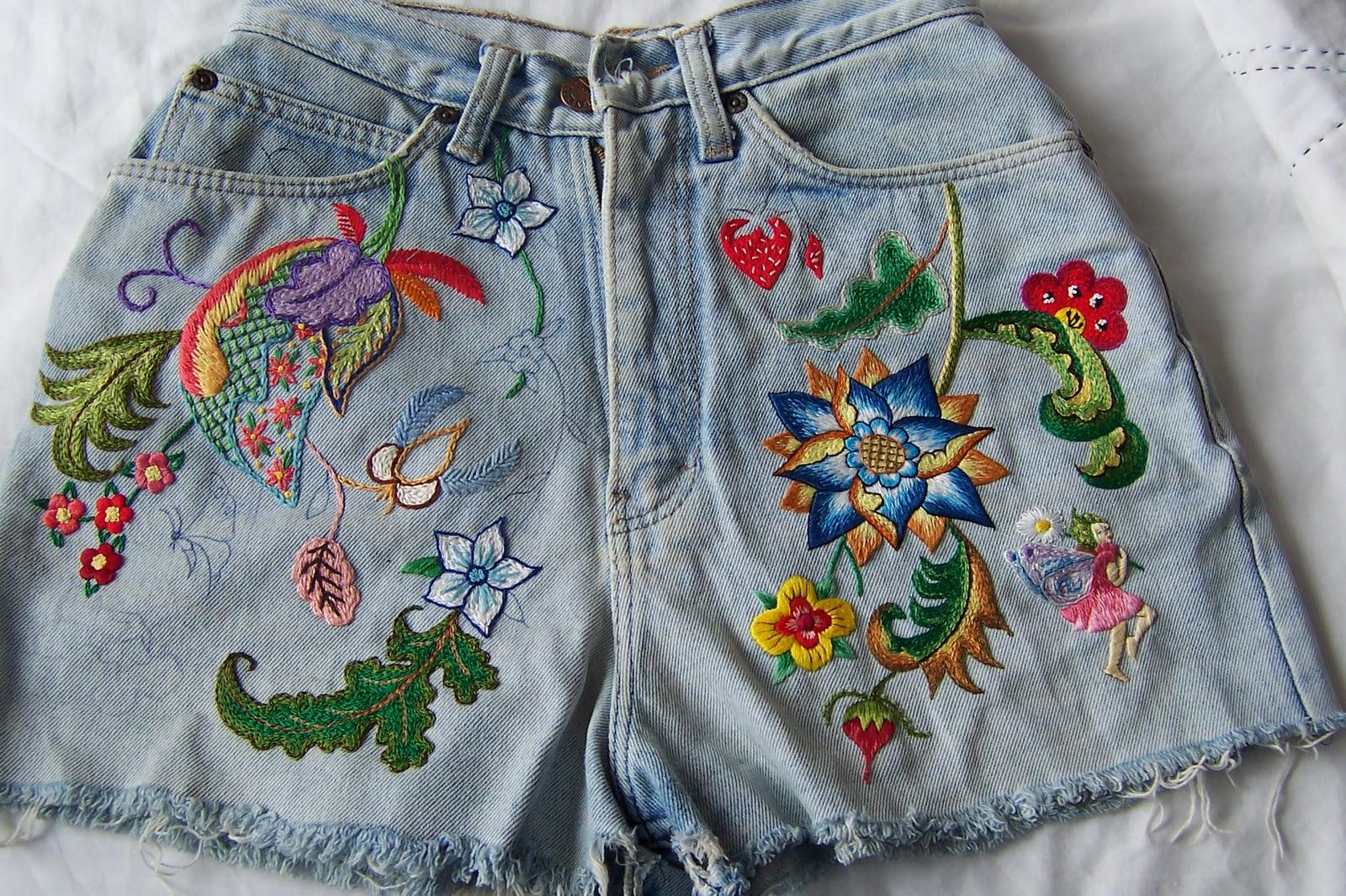 Сделать вышивку на джинсах своими руками 471