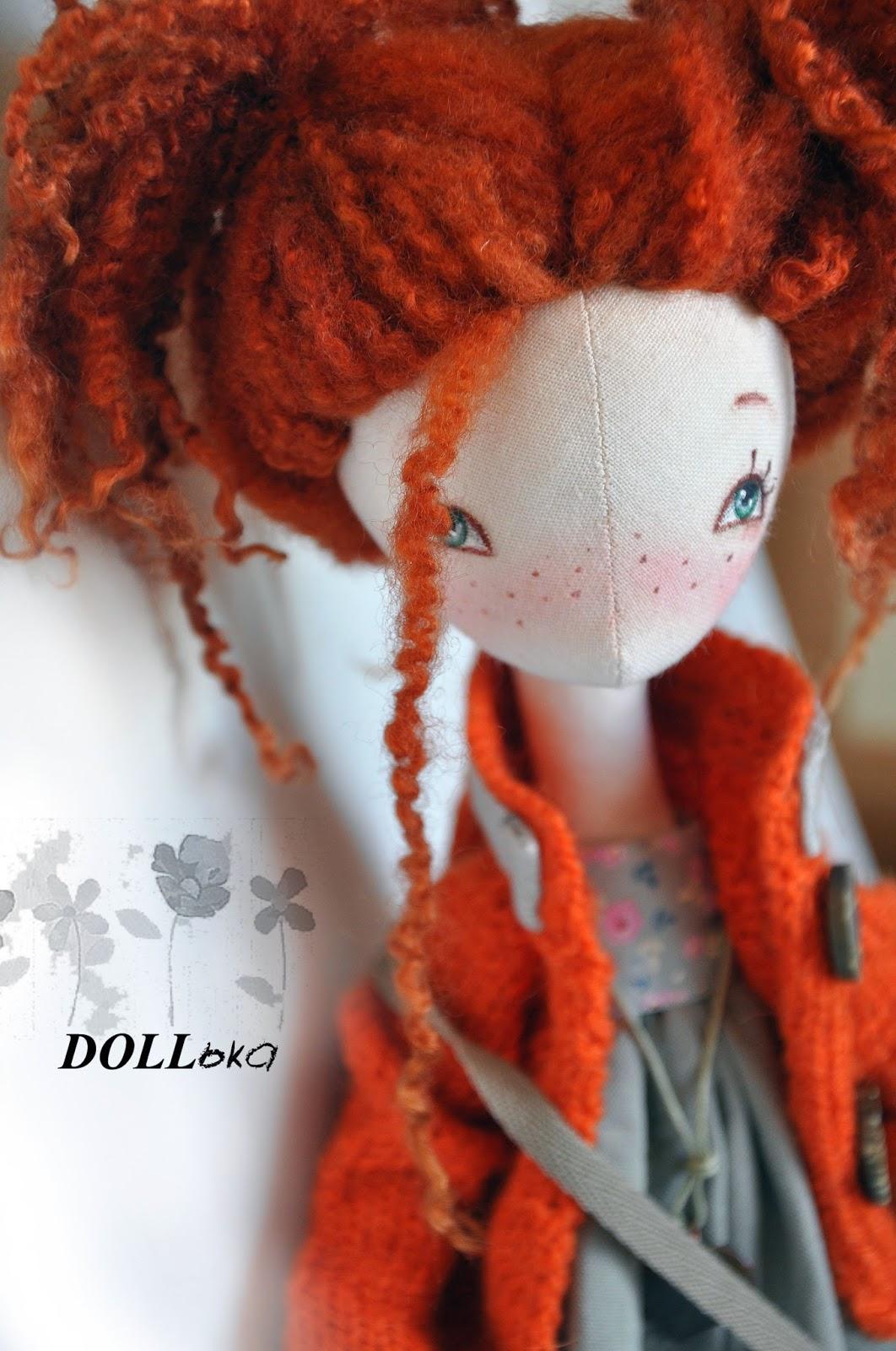 пеппи длинный чулок текстильная кукла