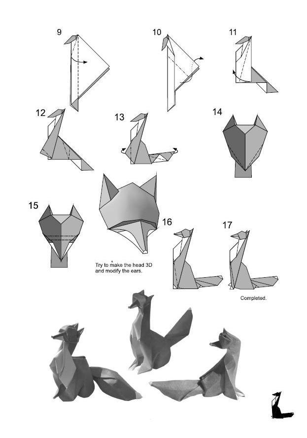El Arte Del Origami  Zorro Dise U00f1ado Por Giang Dinh