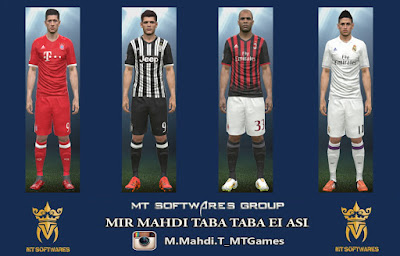 PES 2016 Bayern Munich – Juventus – AC Milan – Real Madrid 2016-17 Home Kit by MT Games