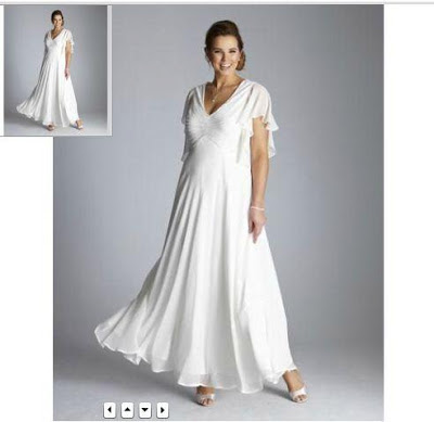 angel white plus size dress