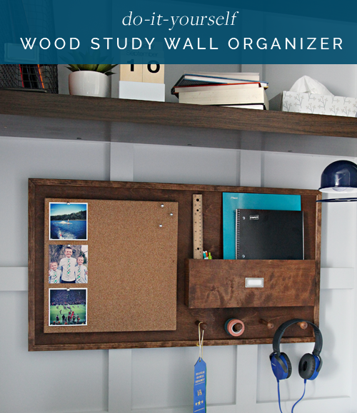 Iheart organizing diy wood study wall organizer that said we have a few things planned for the space closet organization a new headboard and a good study situation solutioingenieria Choice Image