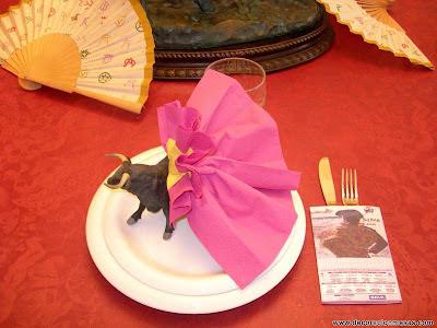decoracion de mesas mesa taurina