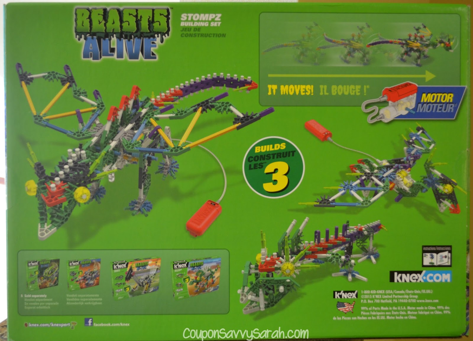 k nex beasts alive instructions
