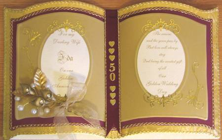 wedding card Golden Wedding Card