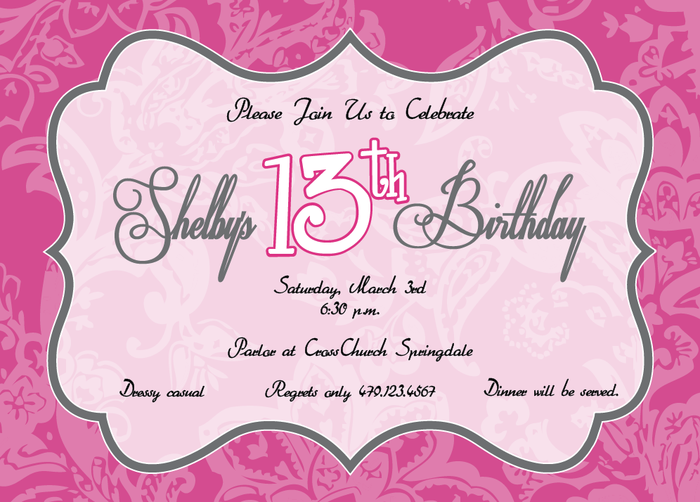 th birthday invitation templates. birthday party invitations, Birthday invitations