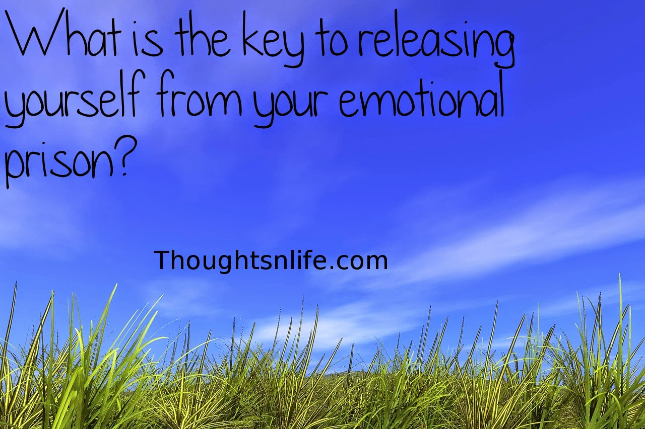 Thoughtsnlife.com: What is the key to releasing yourself from your emotional prison? Simply this: Your thoughts create your emotions; therefore, your emotions cannot prove that your thoughts are accurate. Unpleasant feelings merely indicate that you are thinking something negative and believing it. Your emotions follow your thoughts just as surely as baby ducks follow their mother.