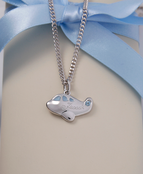 Silver Plane Necklace