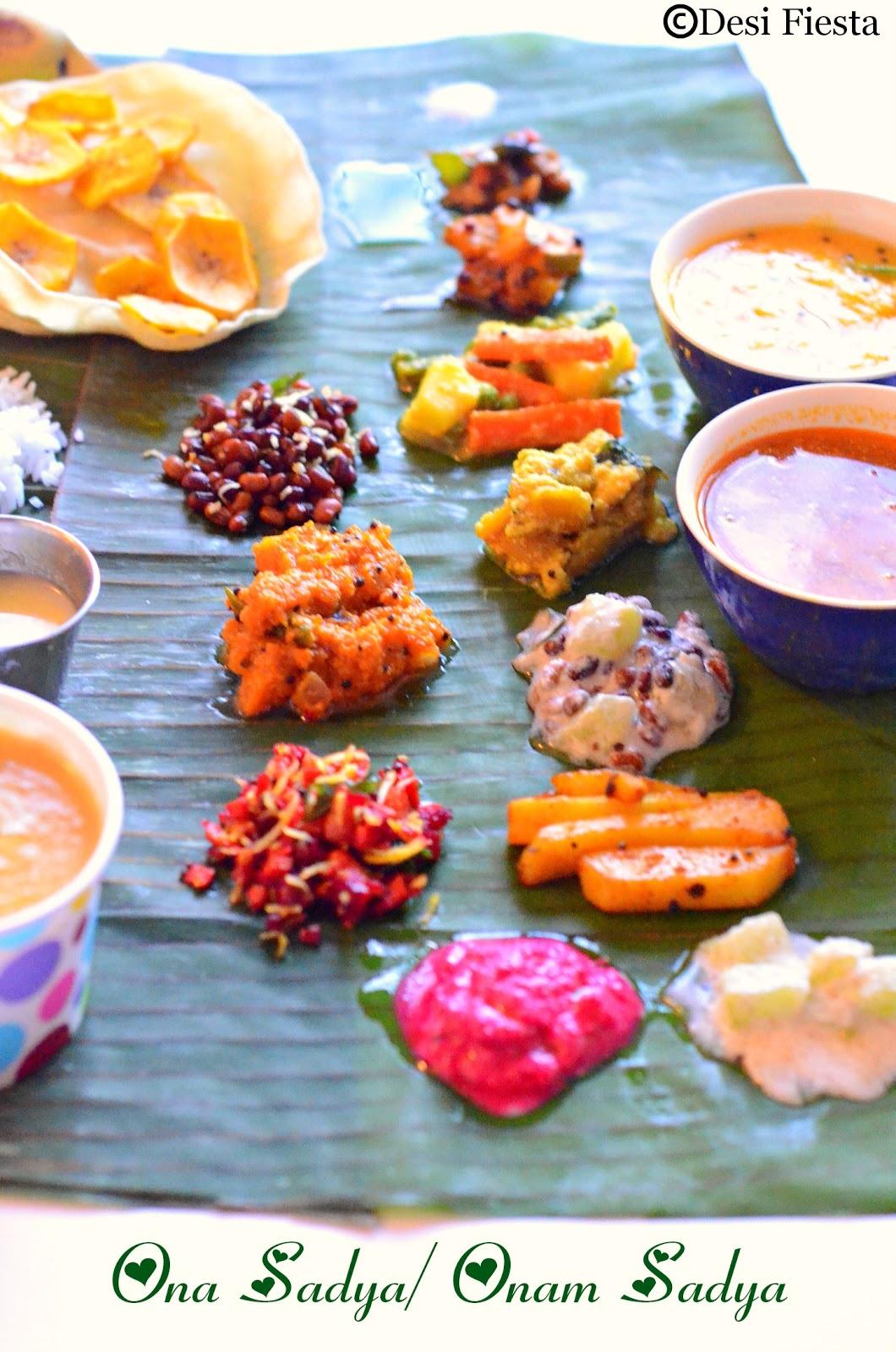 Sadya Platter recipes