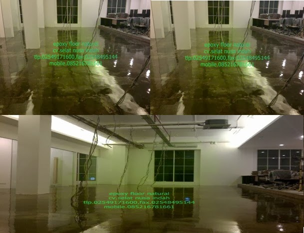 lantai epoxy transparan
