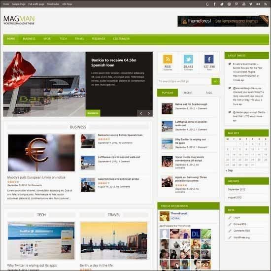 MagMan - Responsive News/Blog WP theme