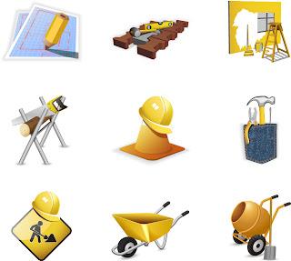 建築機材のアイコン construction site theme icon イラスト素材2
