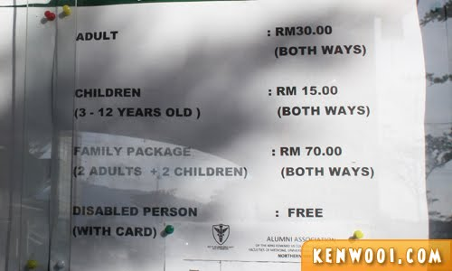 penang hill price foreigner