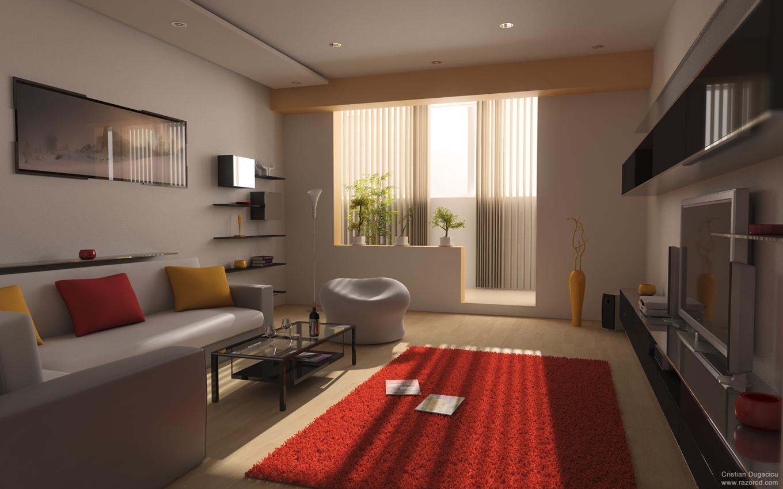 #A93022  para a sua decoração utilize um pouco de cor para salientar as cores 1360x850 píxeis em Decoração De Sala De Estar Com Televisão