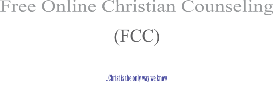 Free Online Christian Counseling (FCC)