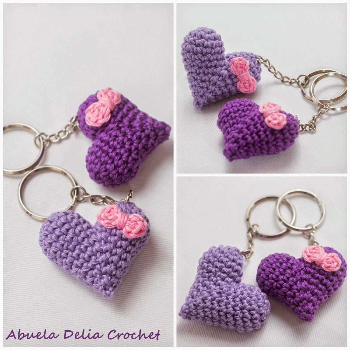 Abuela Delia Crochet: Llavero Corazón | Heart Key Ring