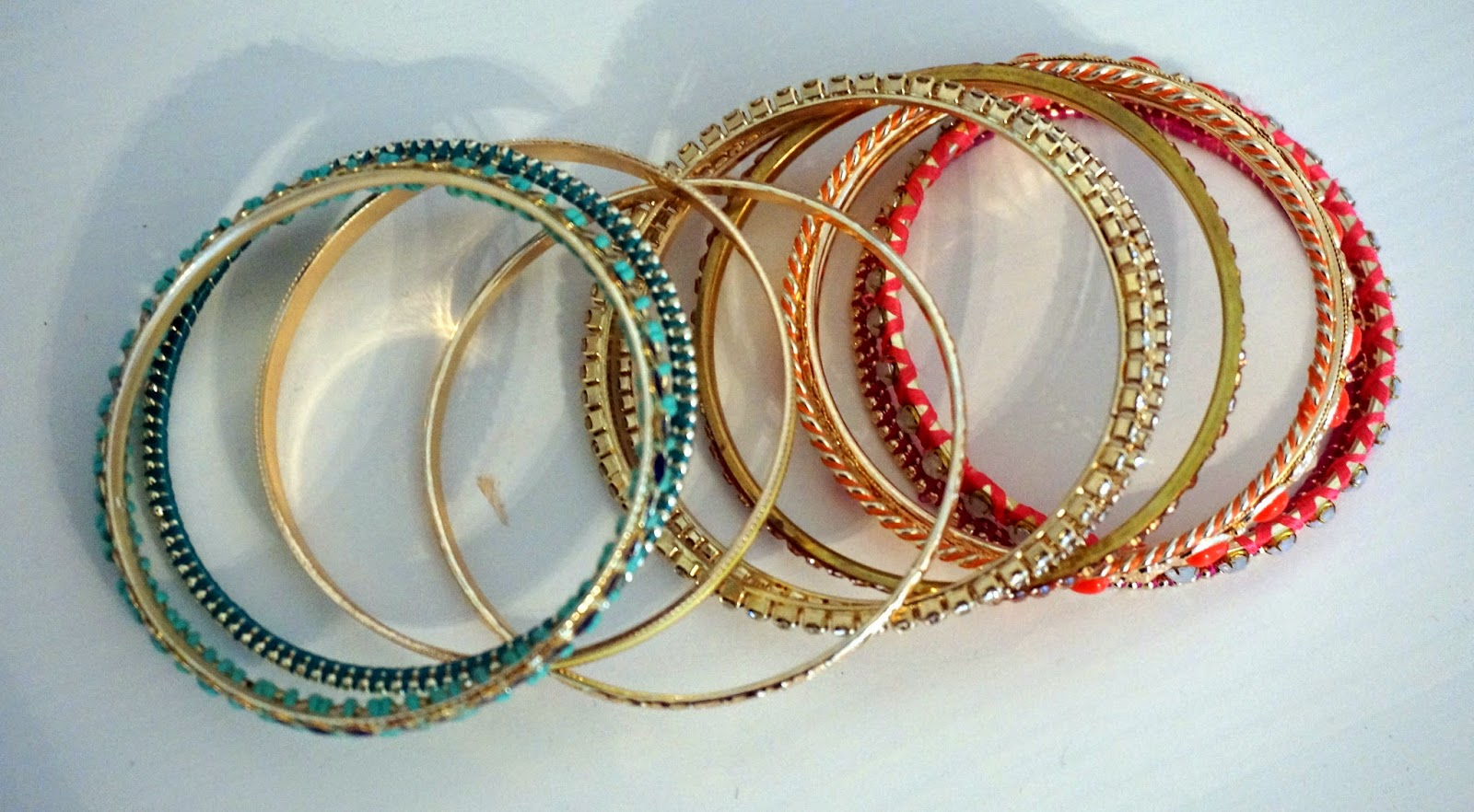 multicoloured bracelets