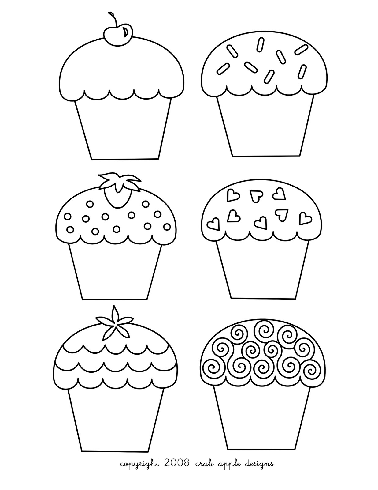 Cupcakes Coloring Pages - Free Printable Pictures Coloring ...