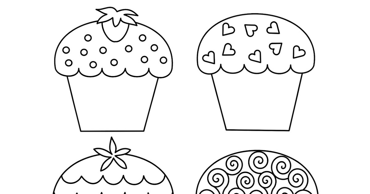 Free Coloring Pages Cupcake Coloring Pages