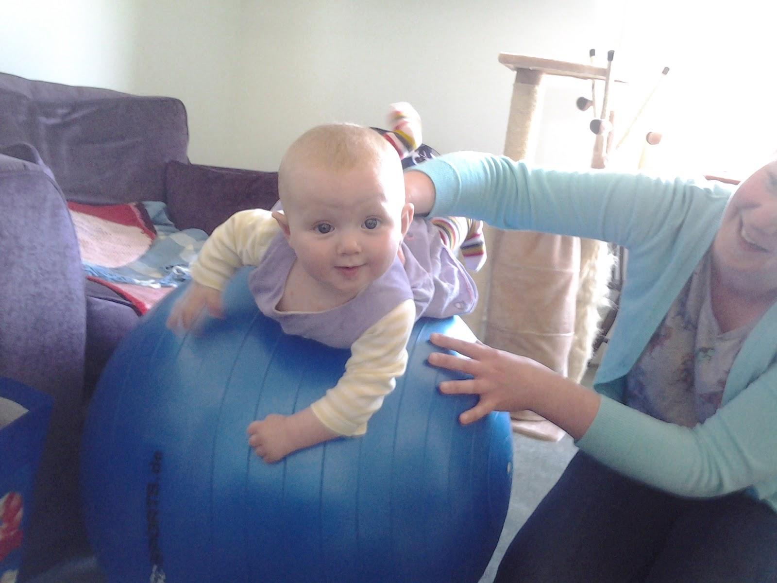 Matilda on a yoga ball